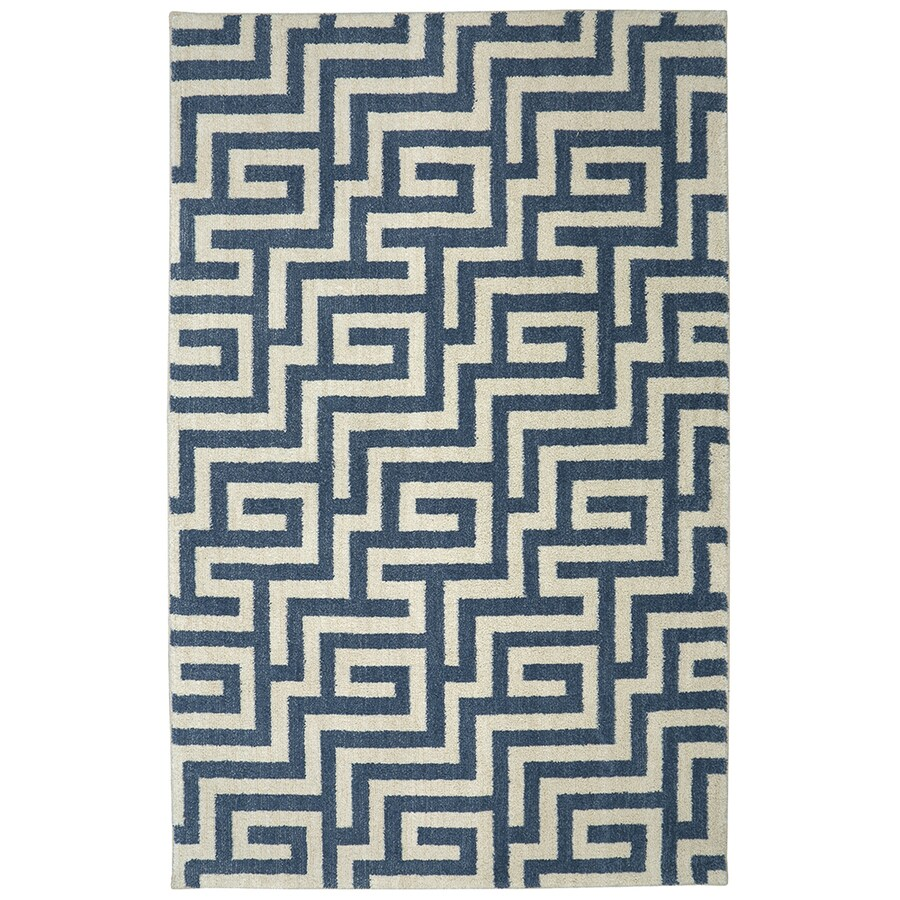 Mohawk Home Berkshire Brewster Grey Rectangular Indoor Machine-Made Area Rug (Common: 5 x 8; Actual: 5-ft W x 8-ft L)