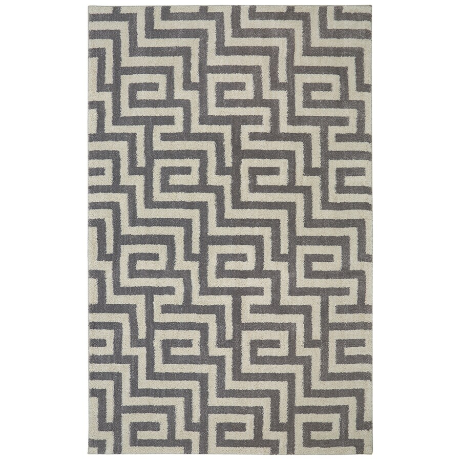 Mohawk Home Berkshire Brewster Grey Rectangular Indoor Machine-Made Area Rug