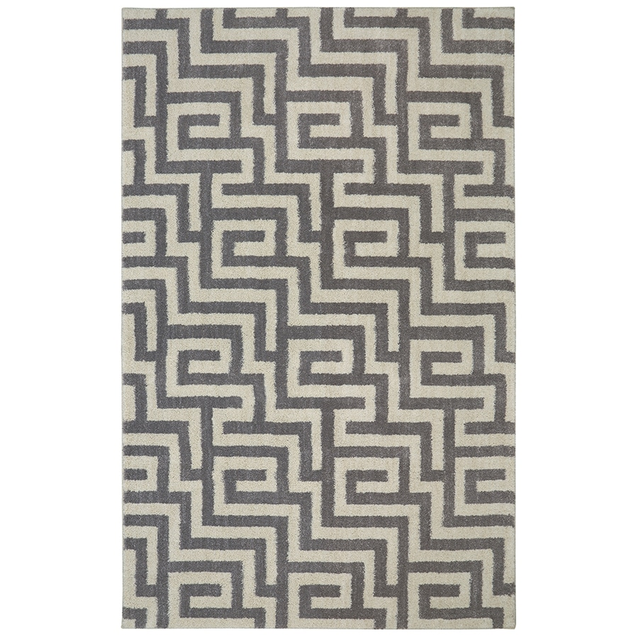 Mohawk Home Berkshire Brewster Grey Rectangular Indoor Machine-Made Area Rug (Common: 8 x 10; Actual: 8-ft W x 10-ft L)