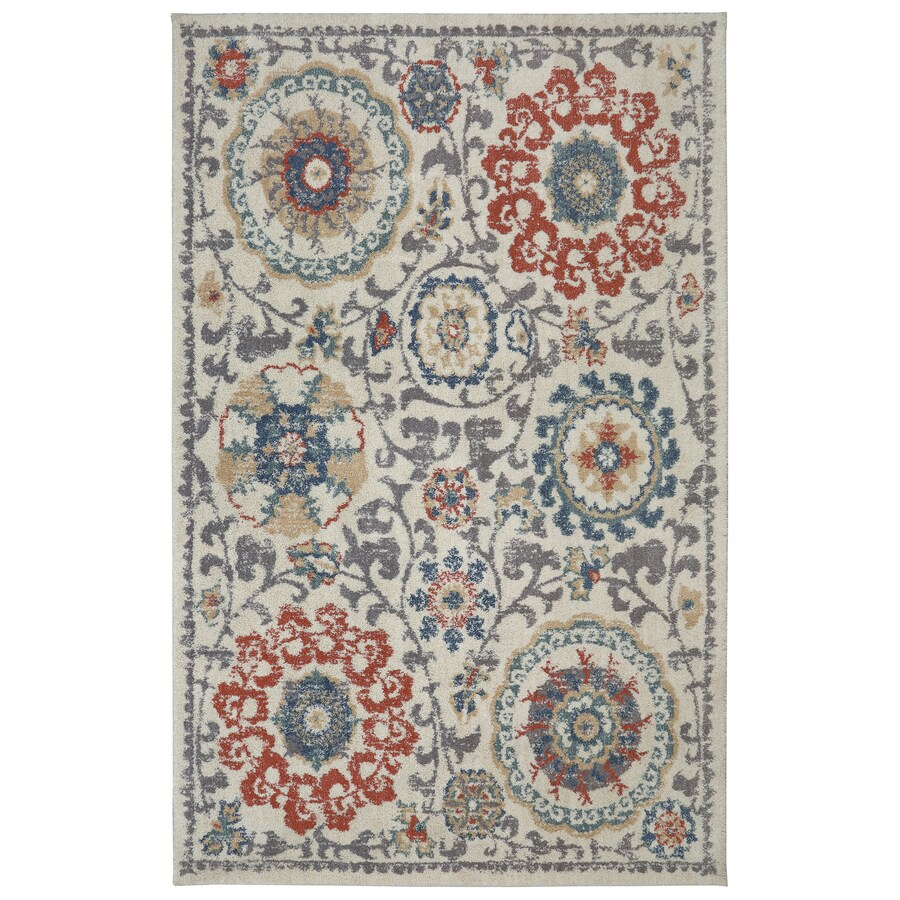 Mohawk Home Berkshire Vernon Rectangular Indoor Machine-Made Inspirational Area Rug (Common: 8 x 10; Actual: 8-ft W x 10-ft L x 0.5-ft dia)