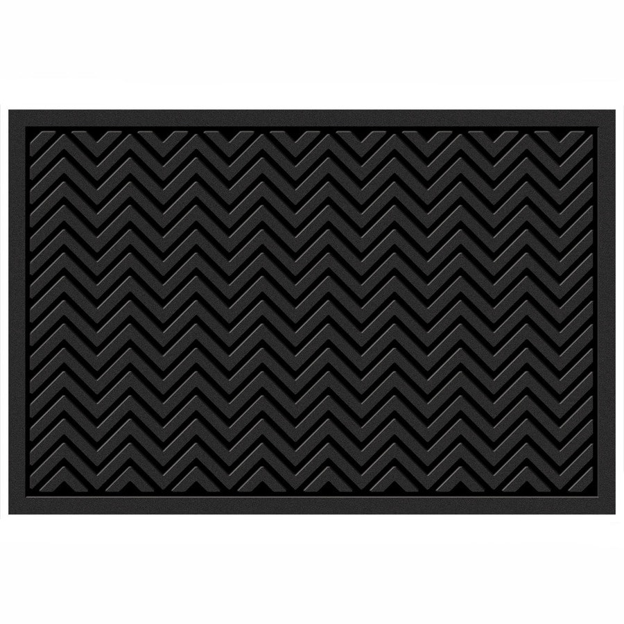 Mohawk Home Black Rectangular Door Mat (Common: 24-in x 36-in; Actual: 24-in x 36-in)