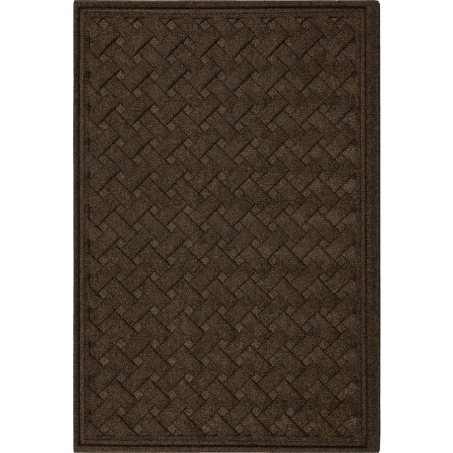 Mohawk Home Brown Rectangular Door Mat (Common: 2-ft x 3-ft; Actual: 36-in x 24-in)