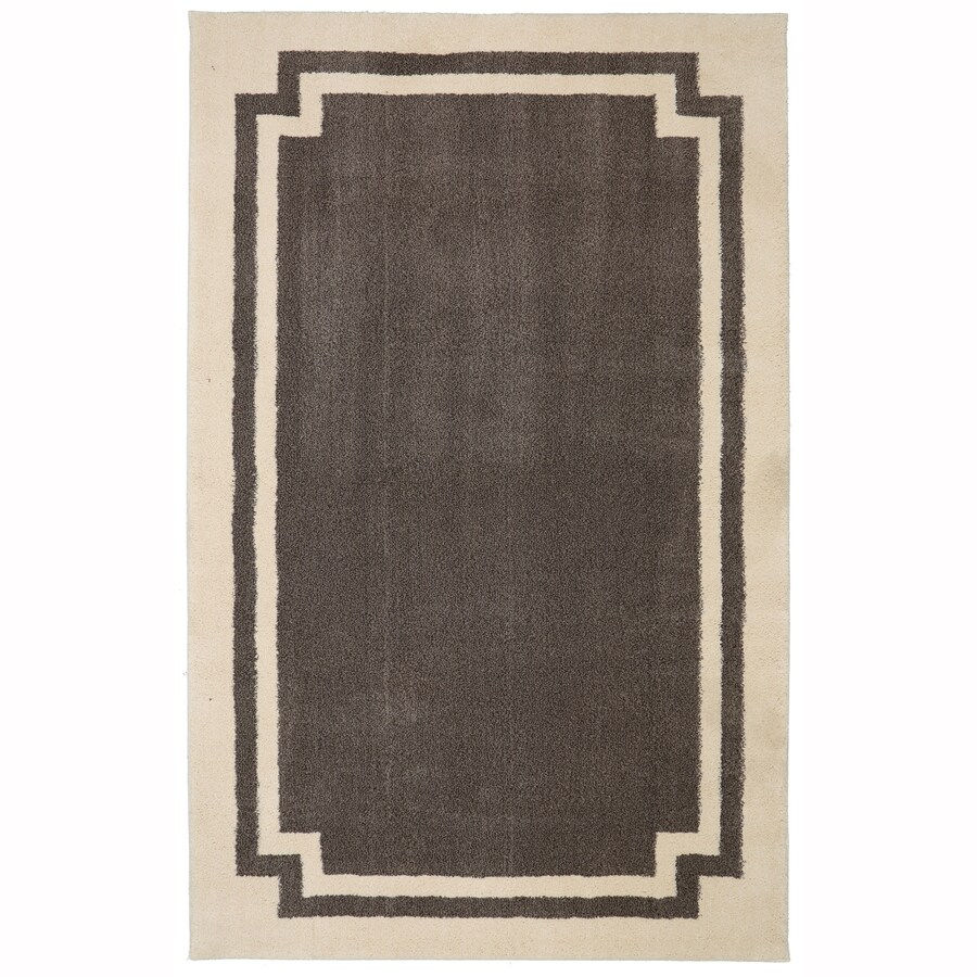 allen + roth Driscombe Walnut Rectangular Indoor Woven Area Rug (Common: 5 x 8; Actual: 60-in W x 96-in L x 0.5-ft dia)