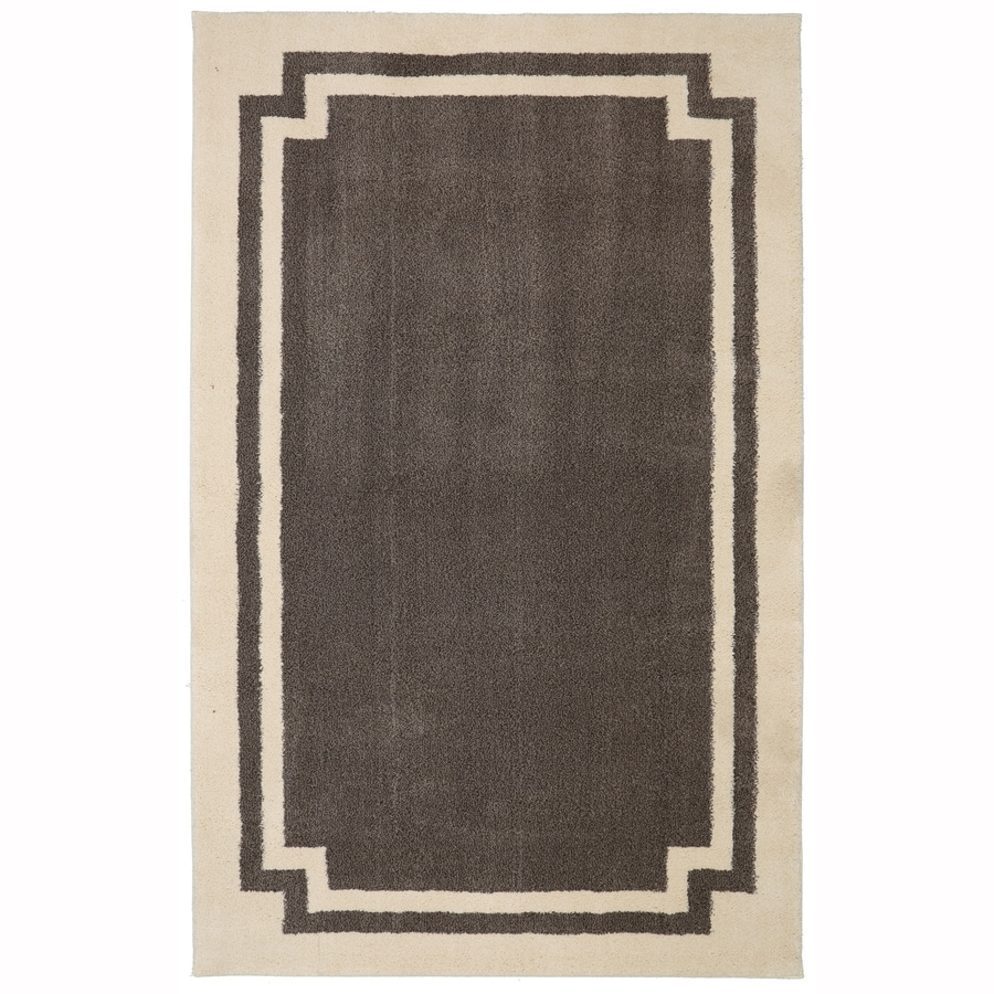 allen + roth Driscombe Walnut Rectangular Indoor Woven Area Rug (Common: 10 x 13; Actual: 10-ft W x 13-ft L x 0.5-ft Dia)