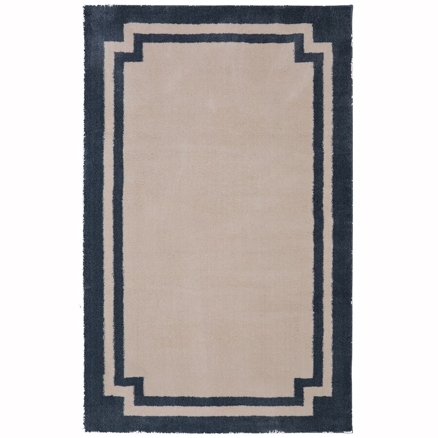allen + roth Driscombe Green Mileu Rectangular Indoor Woven Area Rug (Common: 5 x 8; Actual: 5-ft W x 8-ft L x 0.5-ft Dia)