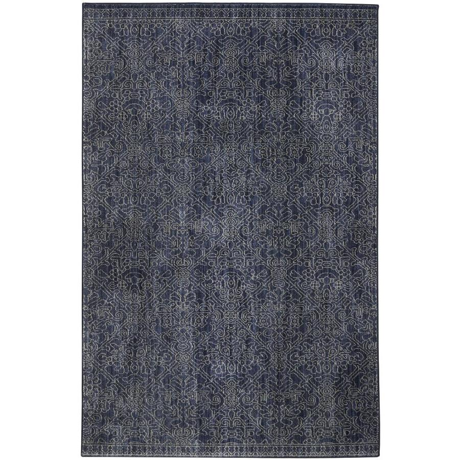 allen + roth Resbridge Indigo Rectangular Indoor Machine-Made Moroccan Area Rug (Common: 10 x 13; Actual: 10-ft W x 12.9-ft L x 0.5-ft dia)