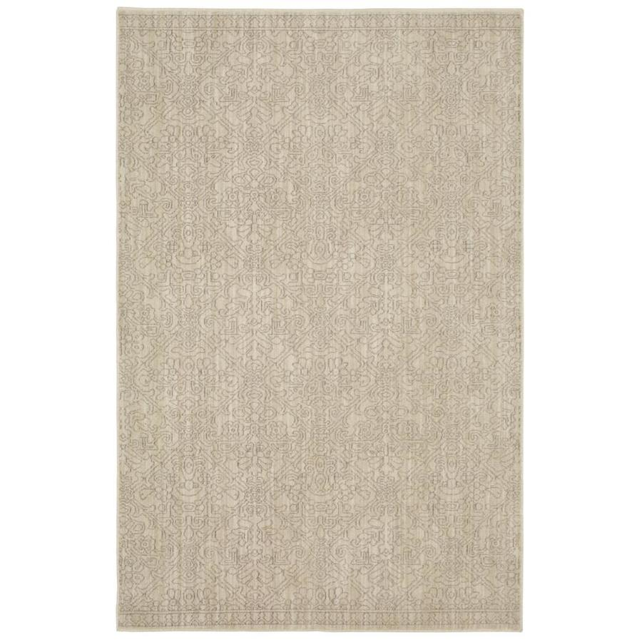 allen + roth Resbridge Tan Rectangular Indoor Woven Area Rug (Common: 5 x 8; Actual: 5.3-ft W x 7.83-ft L x 0.5-ft Dia)