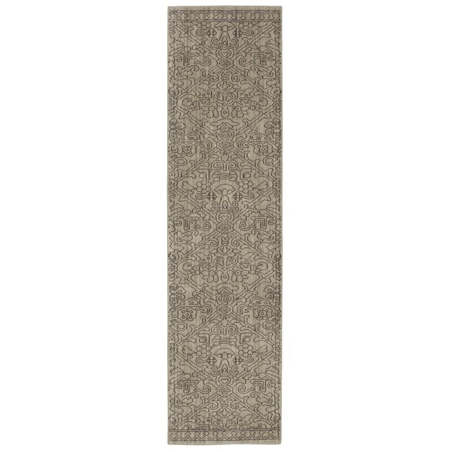allen + roth Resbridge Gray Rectangular Indoor Machine-Made Moroccan Runner (Common: 2 x 8; Actual: 2.1-ft W x 7.83-ft L x 0.5-ft Dia)