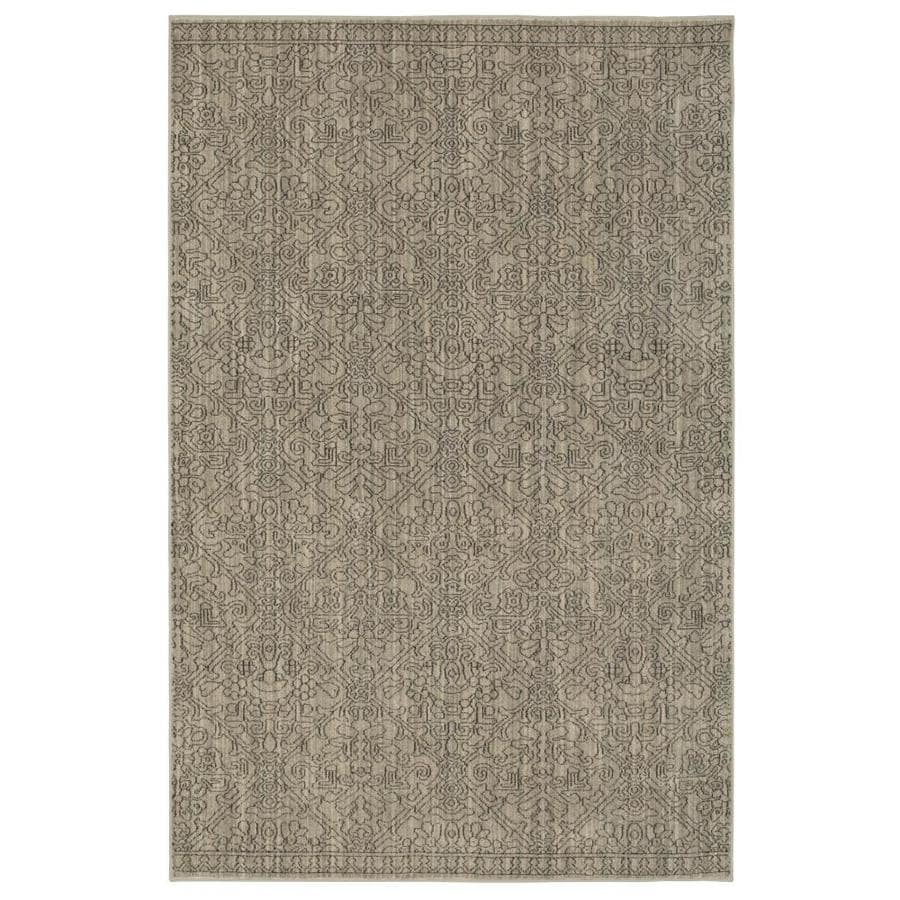 allen + roth Resbridge Gray Rectangular Indoor Woven Area Rug (Common: 5 x 8; Actual: 5.3-ft W x 7.83-ft L x 0.5-ft Dia)