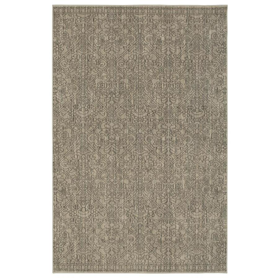 allen + roth Resbridge Gray Rectangular Indoor Woven Area Rug (Common: 8 x 10; Actual: 8-ft W x 10-ft L x 0.5-ft Dia)