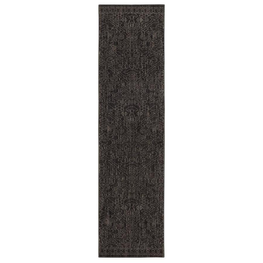allen + roth Resbridge Gray Rectangular Indoor Woven Runner (Common: 2 x 8; Actual: 24-in W x 94-in L x 0.5-ft dia)