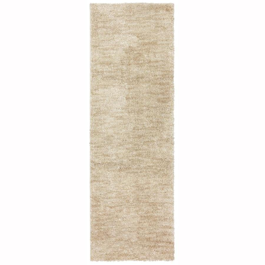 allen + roth Taney Beige Rectangular Indoor Machine-Made Distressed Runner (Common: 2 x 8; Actual: 2-ft W x 8-ft L x 0.5-ft Dia)