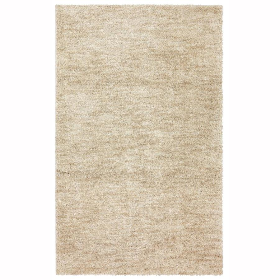 allen + roth Taney Beige Rectangular Indoor Machine-Made Distressed Area Rug (Common: 5 x 8; Actual: 5-ft W x 8-ft L x 0.5-ft dia)