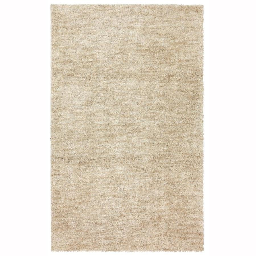 Mohawk Home Taney Beige Rectangular Indoor Shag Area Rug (Common: 8 x 10; Actual: 8-ft W x 10-ft L x 0.5-ft Dia)
