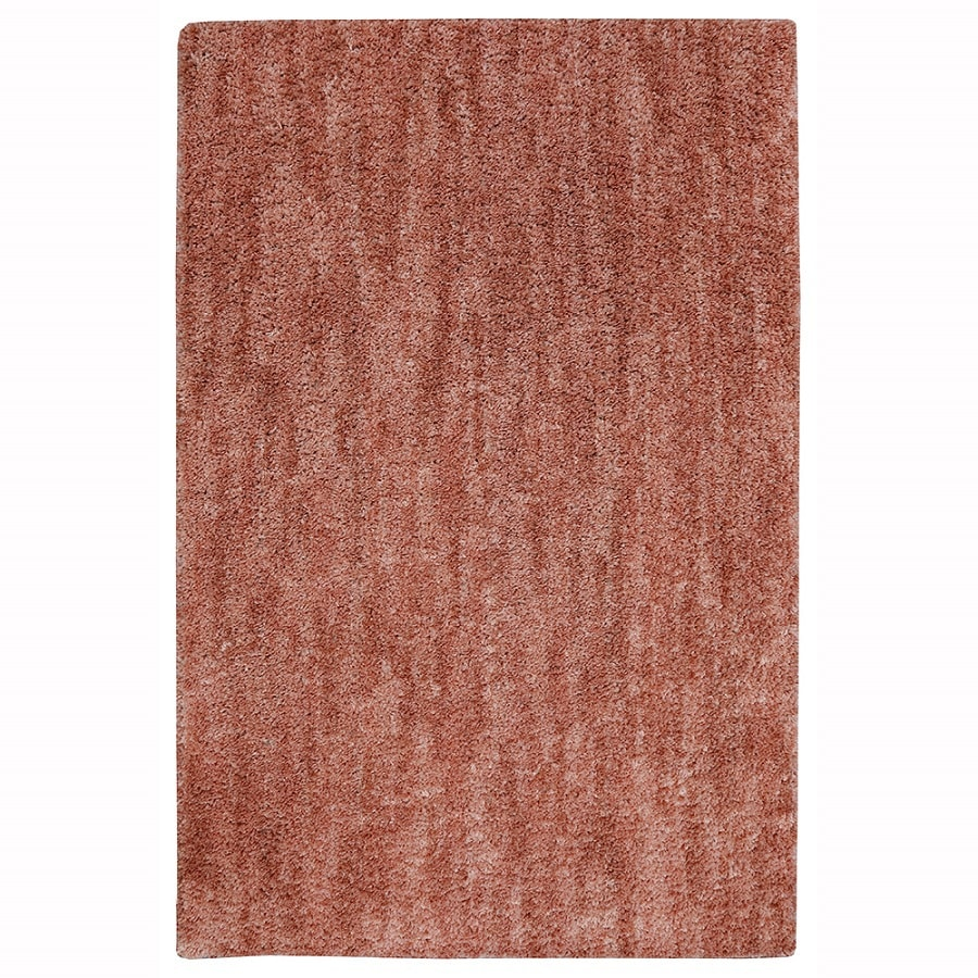 allen + roth Taney Coral Rectangular Indoor Shag Area Rug (Common: 8 x 10; Actual: 8-ft W x 10-ft L x 0.5-ft Dia)