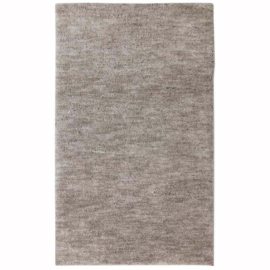 allen + roth Taney Gray And Black Rectangular Indoor Machine-Made Inspirational Area Rug (Common: 10 x 14; Actual: 10-ft W x 14-ft L x 0.5-ft dia)