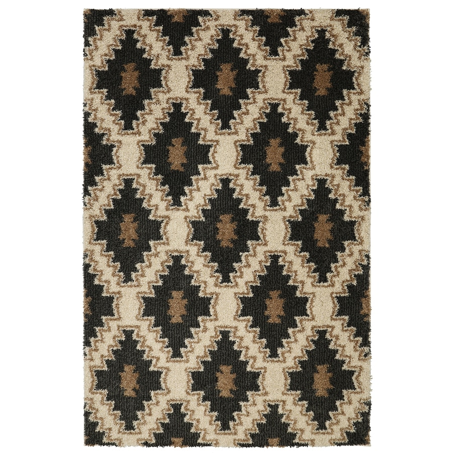 Mohawk Home Carson Diamond Charcoal Rectangular Indoor Woven Area Rug (Common: 5 x 8; Actual: 5-ft W x 8-ft L)