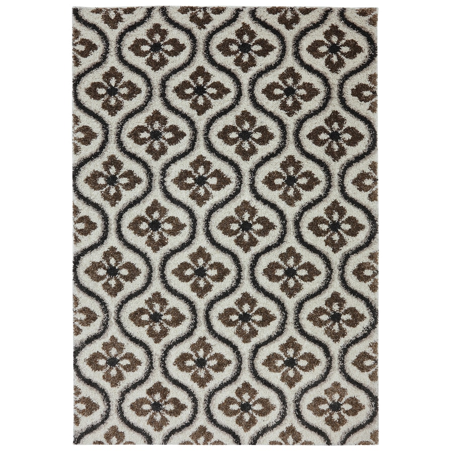 Mohawk Home Augustine Tile Dark Earth Starch Rectangular Indoor Woven Area Rug (Common: 8 x 10; Actual: 96-in W x 120-in L)