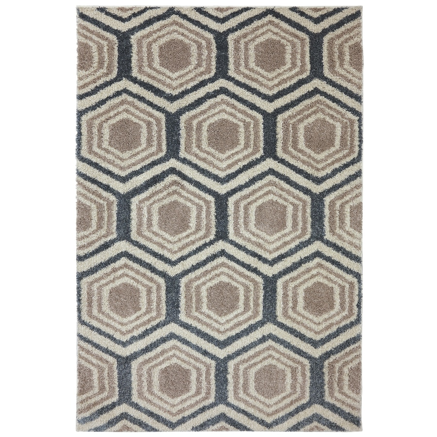 Mohawk Home Five Forks Bay Blue Starch Rectangular Indoor Woven Area Rug (Common: 8 x 10; Actual: 8-ft W x 10-ft L)