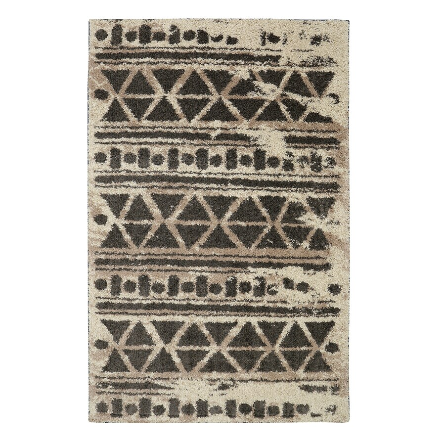 Mohawk Home Urban Grid Cocoa Rectangular Indoor Woven Area Rug (Common: 8 x 10; Actual: 8-ft W x 10-ft L)