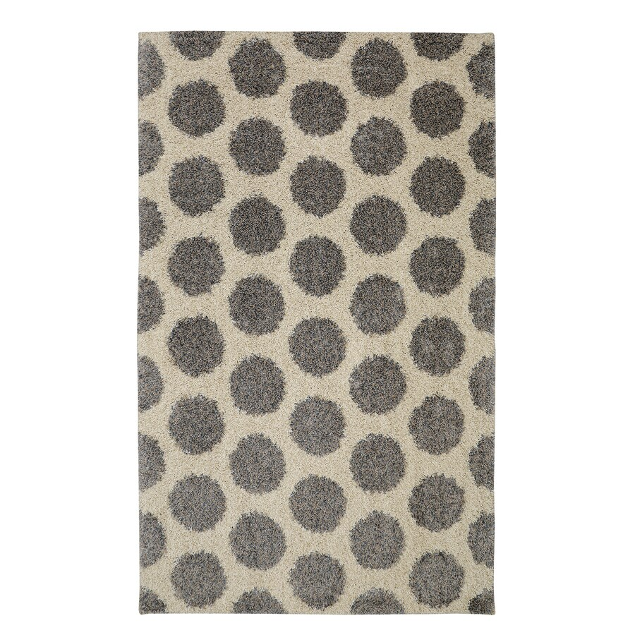 Mohawk Home Mystic Dots Bay Blue Starch Rectangular Indoor Woven Area Rug (Common: 5 x 8; Actual: 5-ft W x 8-ft L)