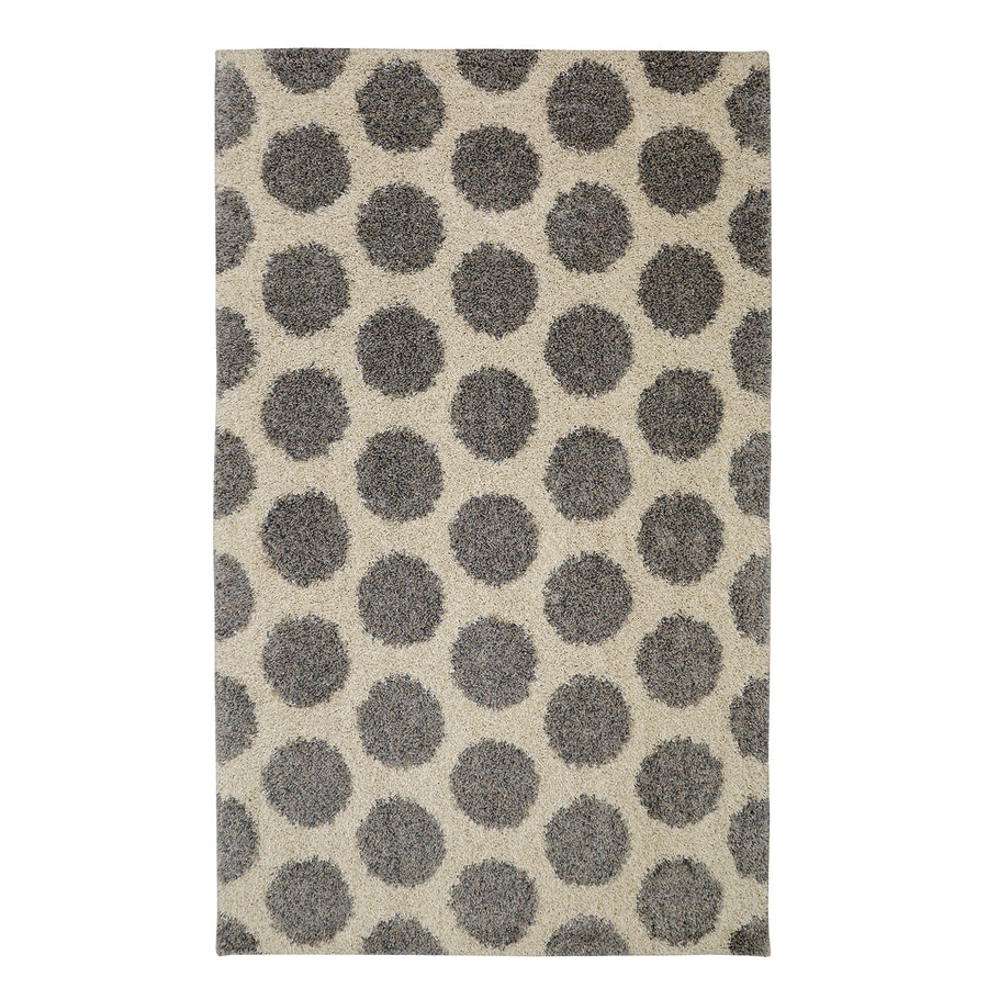 Mohawk Home Mystic Dots Bay Blue Starch Rectangular Indoor Machine-Made Inspirational Area Rug (Common: 8 x 10; Actual: 8-ft W x 10-ft L x 0.5-ft dia)