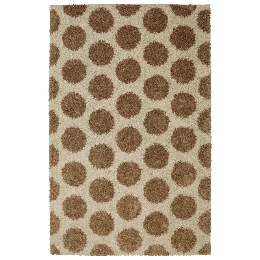 Mohawk Home Mystic Dots Sand Rectangular Indoor Machine-Made Inspirational Area Rug (Common: 5 x 8; Actual: 5-ft W x 8-ft L x 0.5-ft dia)