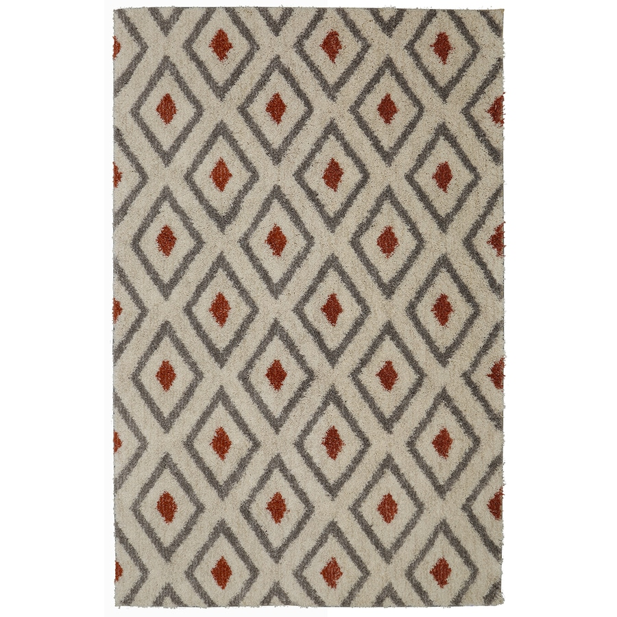Mohawk Home Tribal Diamond Coral Beige Indoor Inspirational Area Rug  (Common: 5 X 8