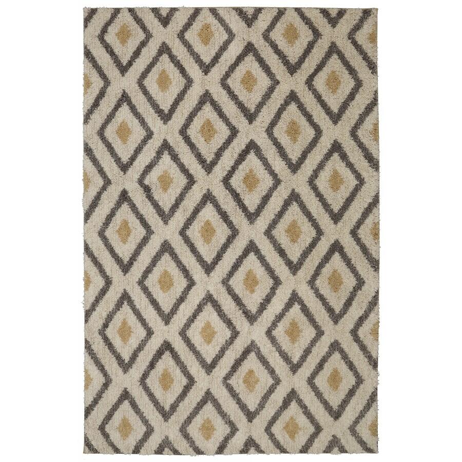 Mohawk Home Tribal Diamond Tan Beige Rectangular Indoor Woven Area Rug (Common: 5 x 8; Actual: 60-in W x 96-in L)