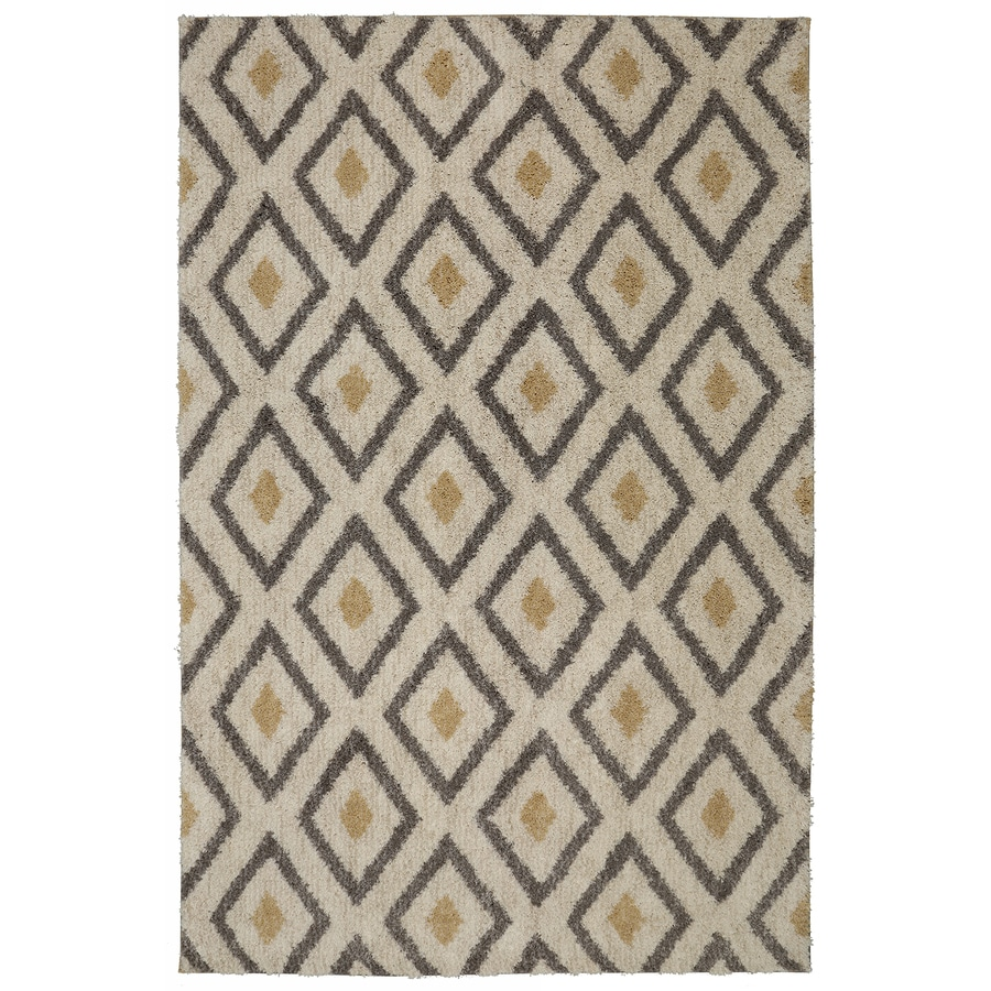 Mohawk Home Tribal Diamond Tan Beige Rectangular Indoor Woven Area Rug (Common: 8 x 10; Actual: 96-in W x 120-in L)