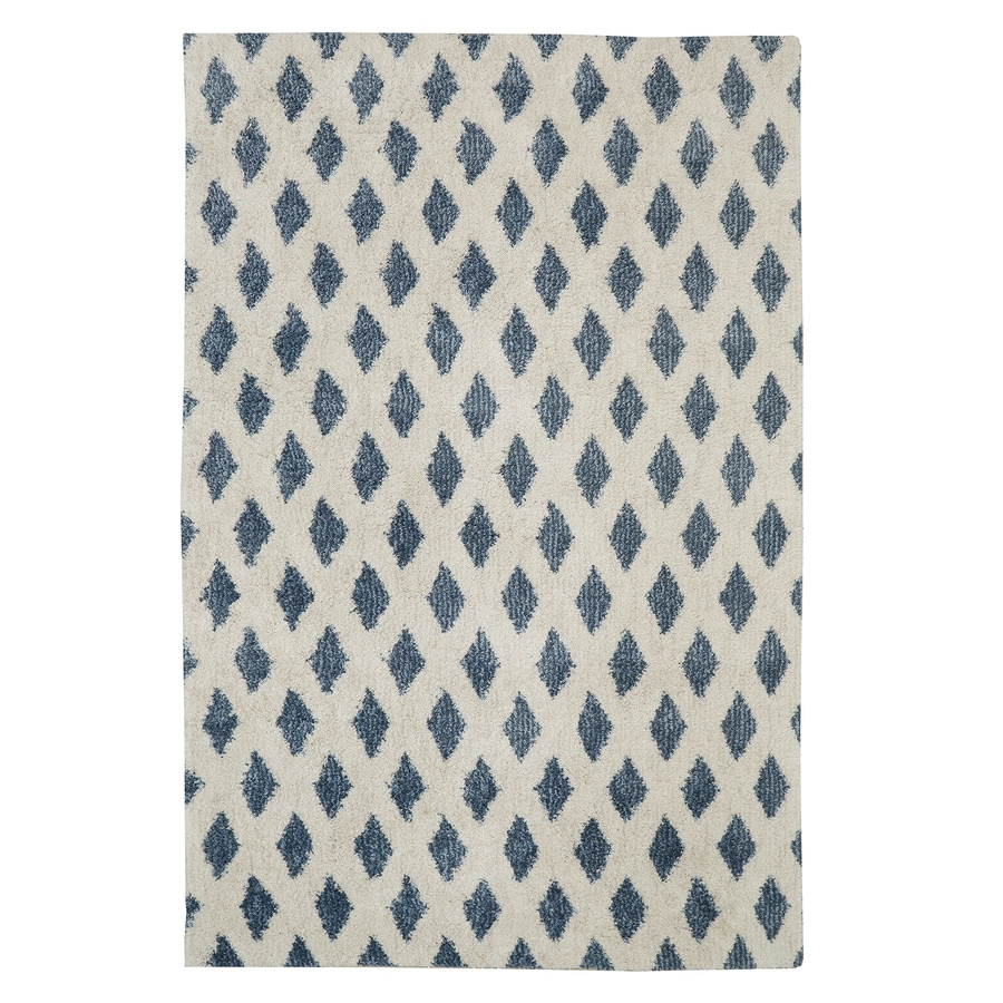 Mohawk Home Adona Blue Blue Rectangular Indoor Woven Area Rug (Common: 8 x 10; Actual: 8-ft W x 10-ft L)