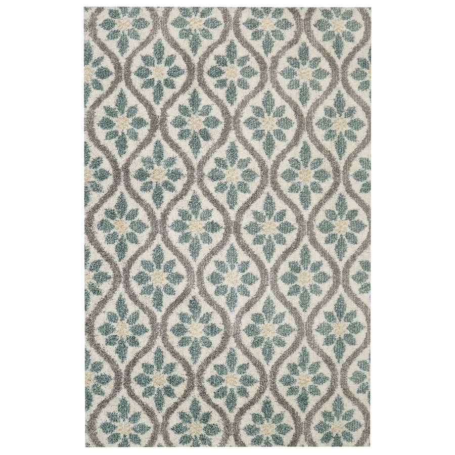 Mohawk Home Perry Green Beige Rectangular Indoor Machine-Made Inspirational Area Rug (Common: 8 x 10; Actual: 8-ft W x 10-ft L x 0.5-ft dia)