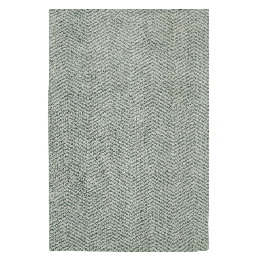 Mohawk Home Clinton Aqua Beige Rectangular Indoor Woven Area Rug (Common: 8 x 10; Actual: 96-in W x 120-in L)