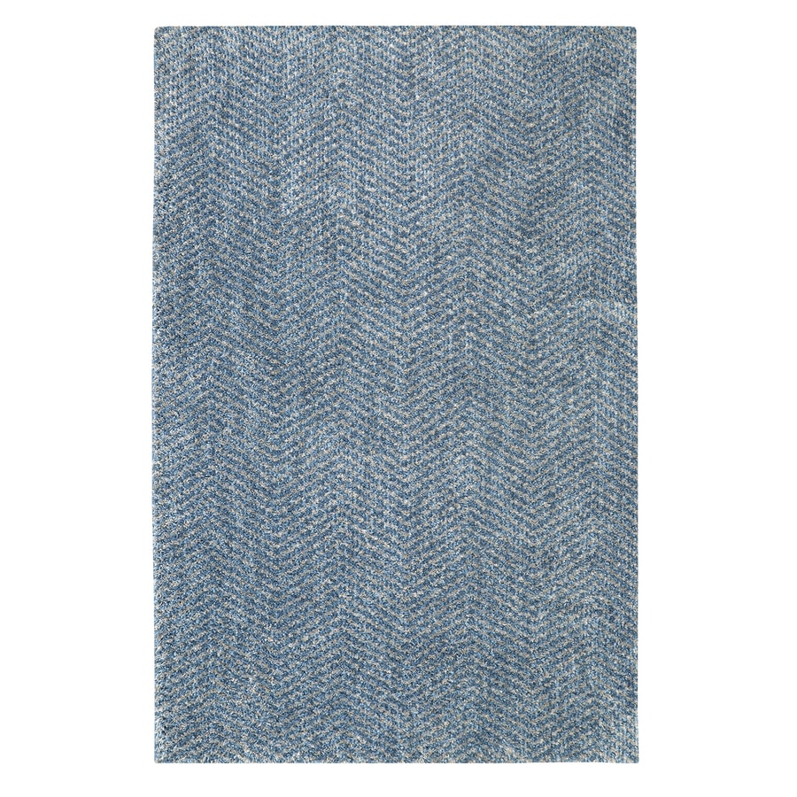 Mohawk Home Clinton Blue Rectangular Indoor Machine-Made Inspirational Area Rug (Common: 5 x 8; Actual: 5-ft W x 8-ft L x 0.5-ft dia)