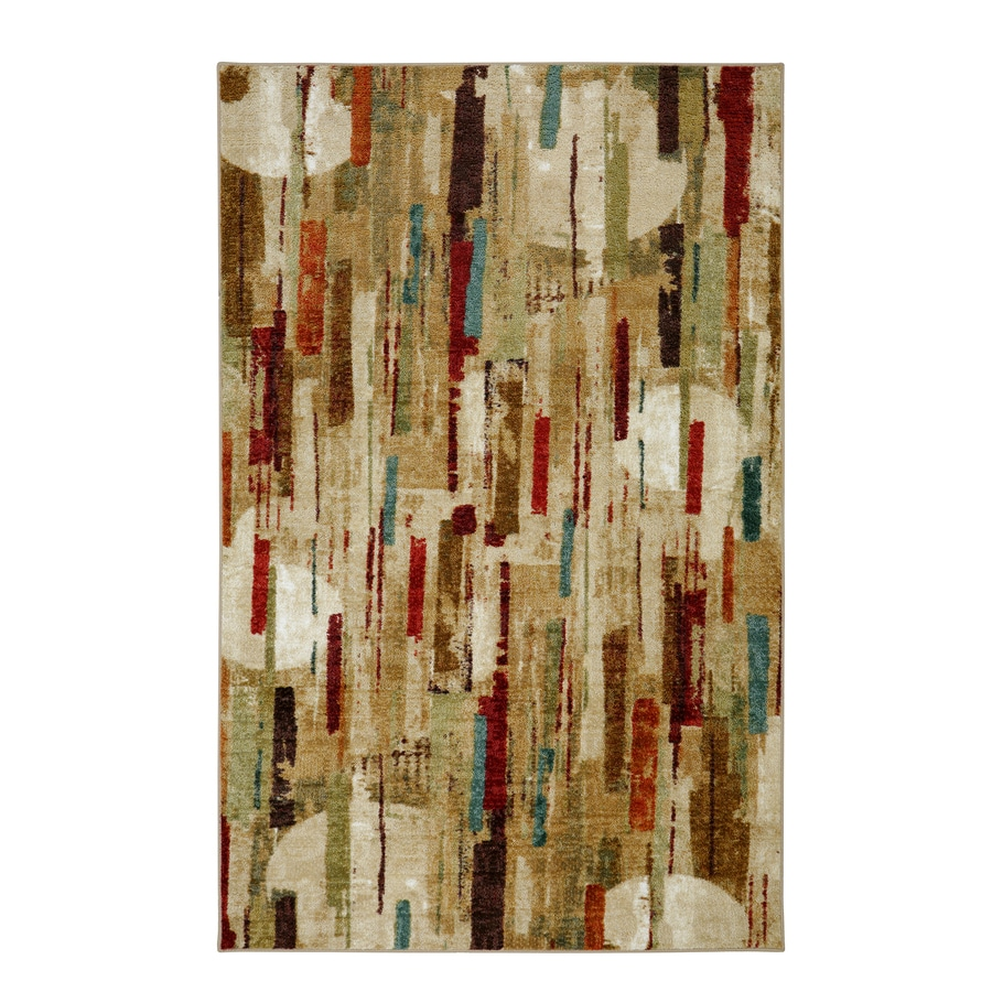 Mohawk Home Strata Facets Multi Rectangular Indoor Machine-Made Area Rug (Common: 5 x 8; Actual: 5-ft W x 8-ft L)