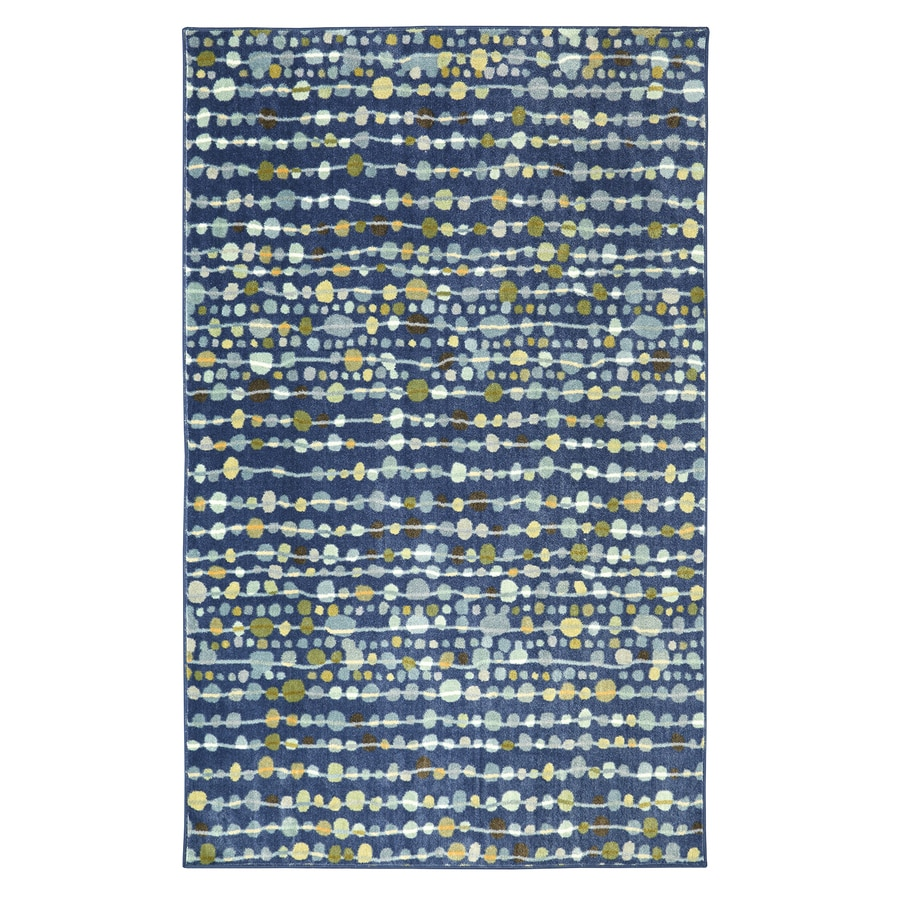 Mohawk Home Delerus Falls Navy Blue Rectangular Indoor Tufted Area Rug (Common: 8 x 10; Actual: 96-in W x 120-in L)