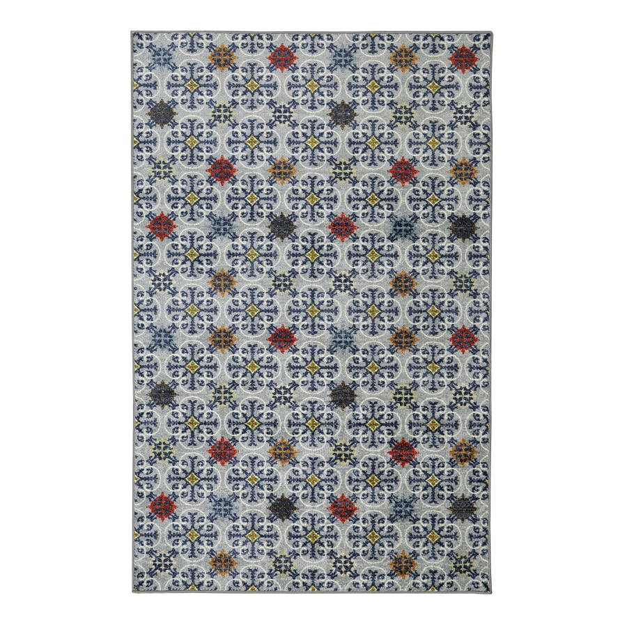 Mohawk Home Desdemona Pewter Gray Rectangular Indoor Tufted Area Rug (Common: 5 x 8; Actual: 60-in W x 96-in L)