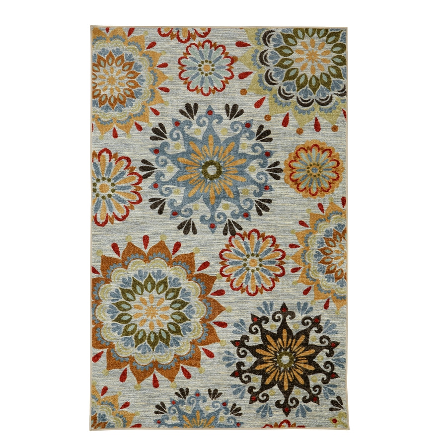 Mohawk Home Global Goddess Multicolor Geo Floral Pattern Multicolor Rectangular Indoor Machine-Made Area Rug