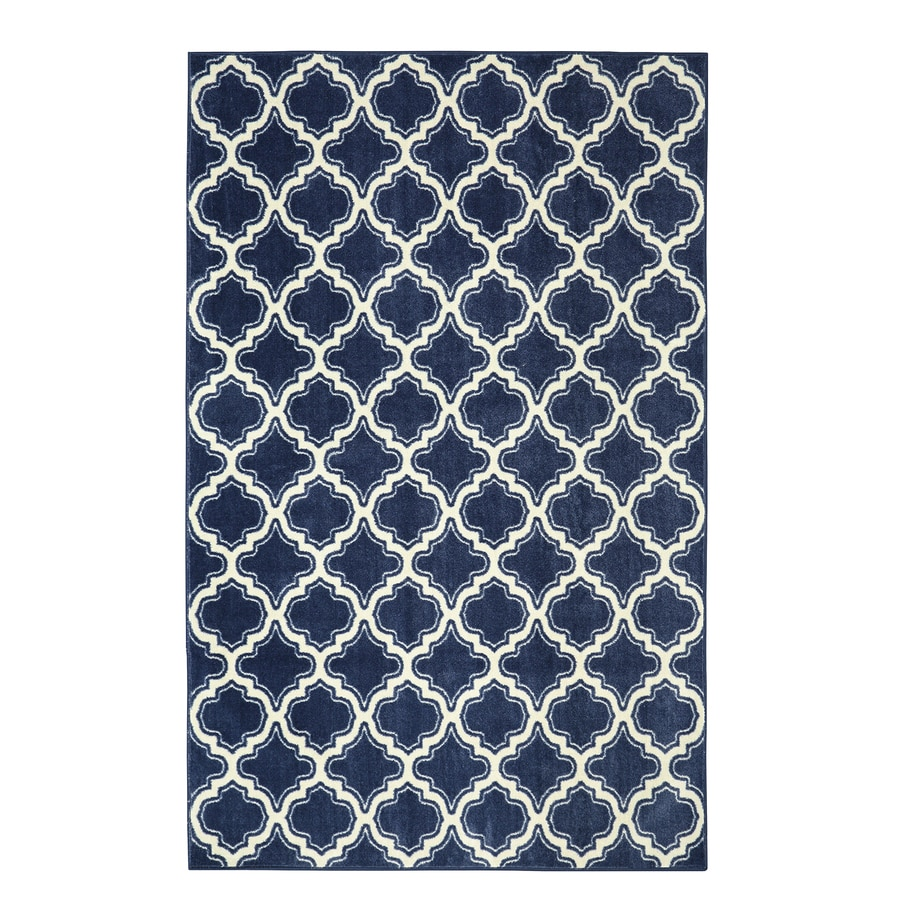 Mohawk Home Strata Rectangular Indoor Machine-Made Inspirational Area Rug (Common: 5 x 8; Actual: 5-ft W x 8-ft L x 0.5-ft dia)