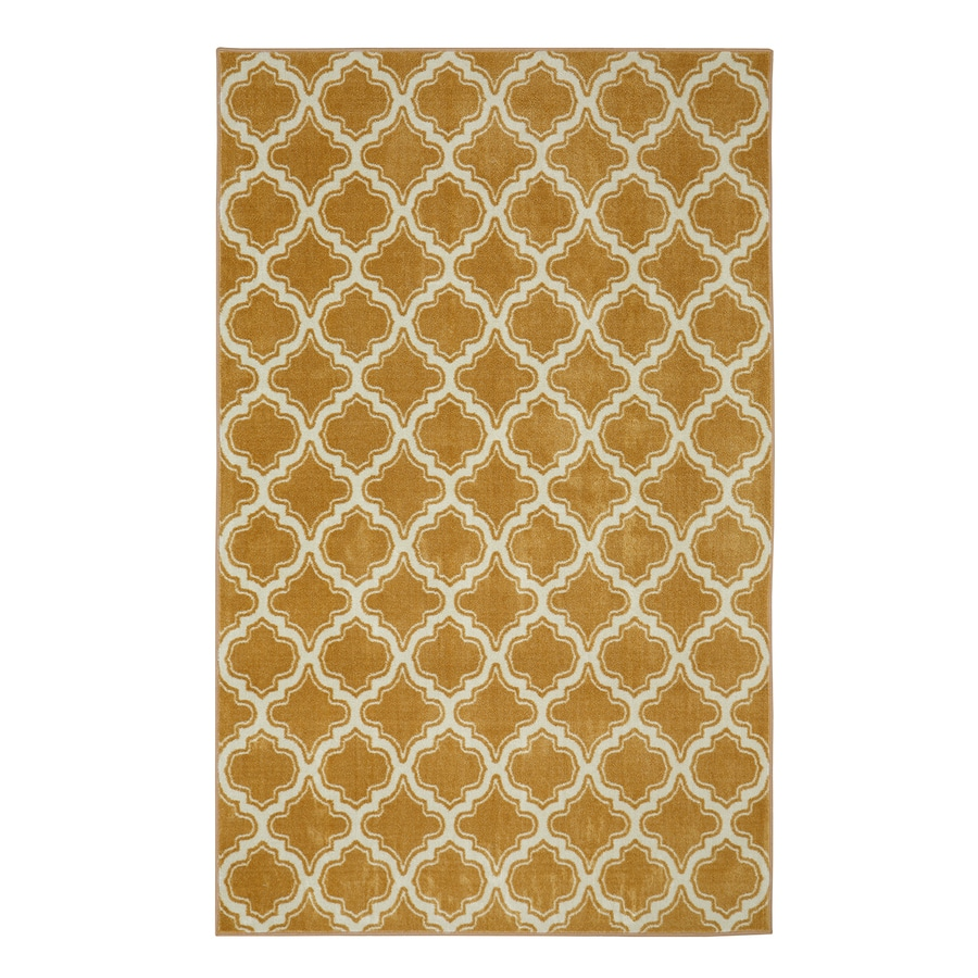 Mohawk Home Calabasas Uno Warm Red Rectangular Indoor Tufted Area Rug (Common: 5 x 8; Actual: 60-in W x 96-in L)
