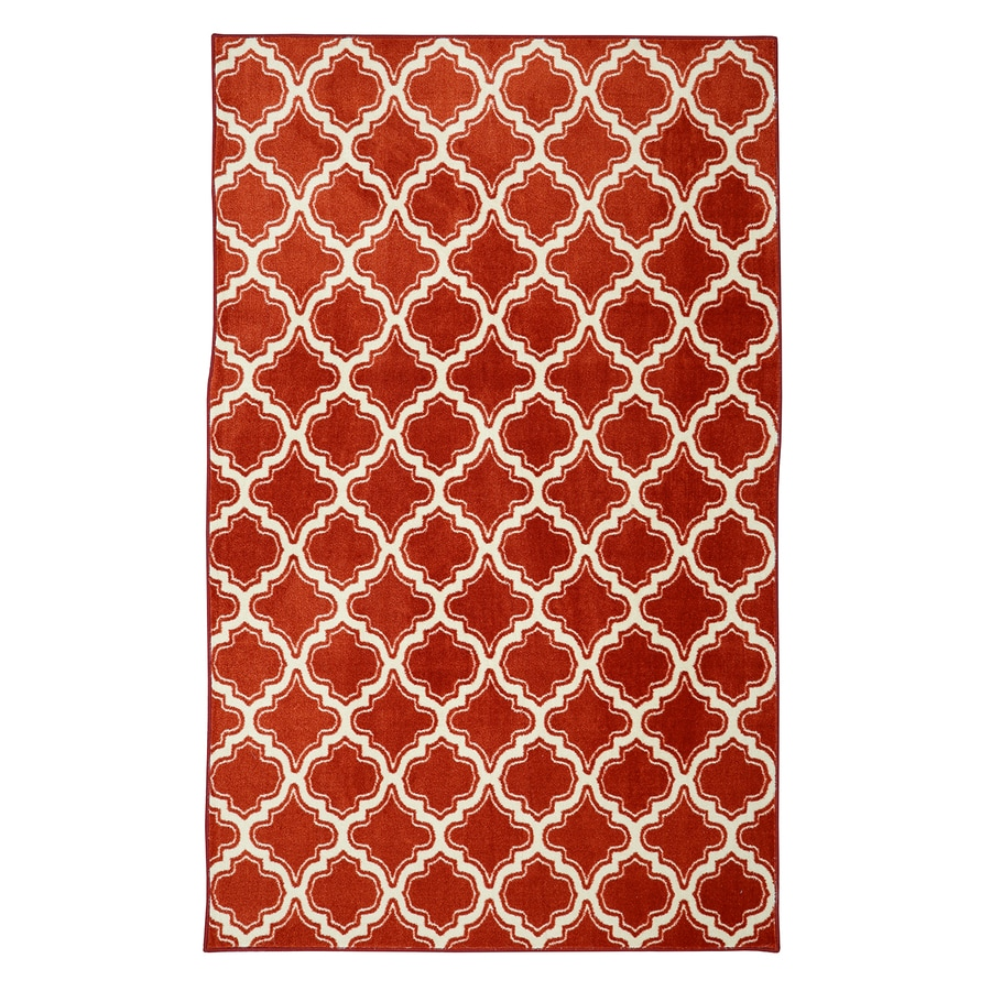 Mohawk Home Calabasas Uno Red Red Rectangular Indoor Tufted Area Rug (Common: 8 x 10; Actual: 96-in W x 120-in L)