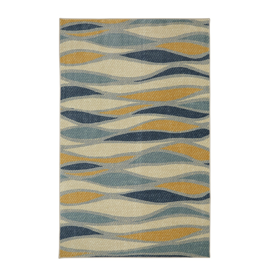 Mohawk Home Line Works Multi Cream Rectangular Indoor Tufted Area Rug (Common: 8 x 10; Actual: 96-in W x 120-in L)