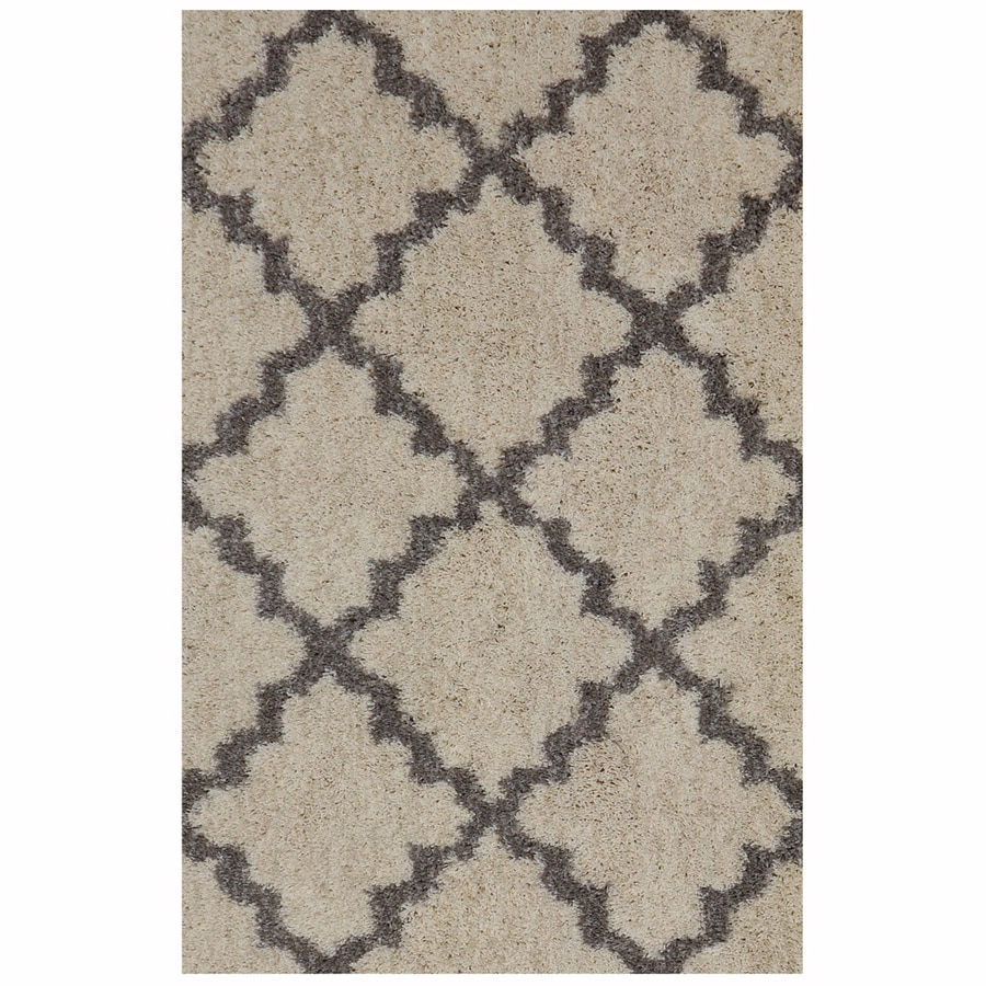 Shop Allen Roth Briarwick Gray Rectangular Indoor Woven