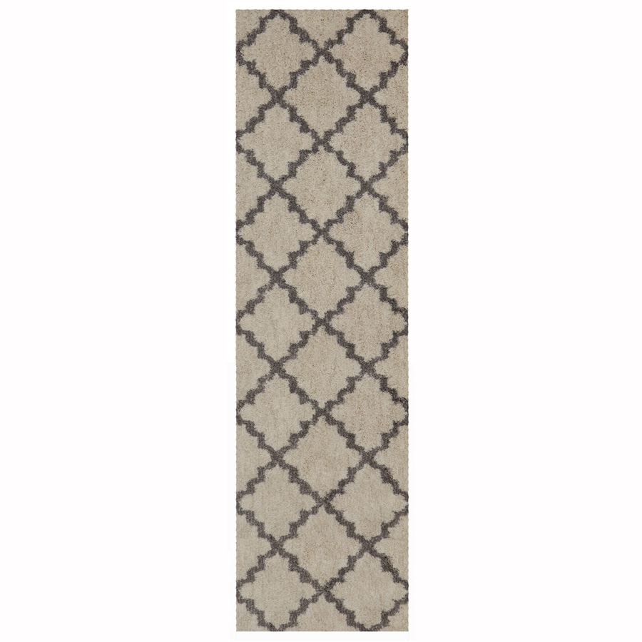 allen + roth Briarwick Gray Indoor Inspirational Runner (Common: 2 x 8; Actual: 2.1-ft W x 7.1-ft L)
