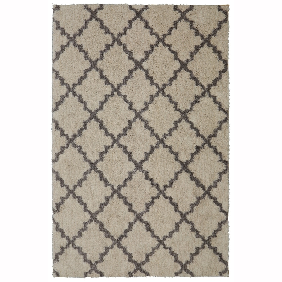 allen + roth Briarwick Gray Rectangular Indoor Woven Area Rug (Common: 8 x 10; Actual: 96-in W x 120-in L x 0.5-ft dia)