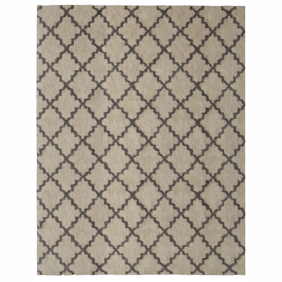 allen + roth Briarwick Gray Rectangular Indoor Machine-made Inspirational Area Rug (Common: 10 X 13; Actual: 10-ft W x 13-ft L x 0.5-ft dia)