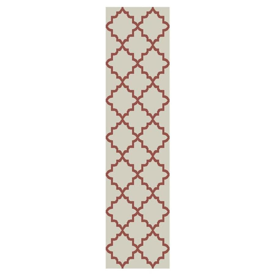 allen + roth Briarwick Coral Rectangular Indoor Inspirational Runner (Common: 2 x 8; Actual: 2-ft W x 8-ft L x 0.5-ft dia)