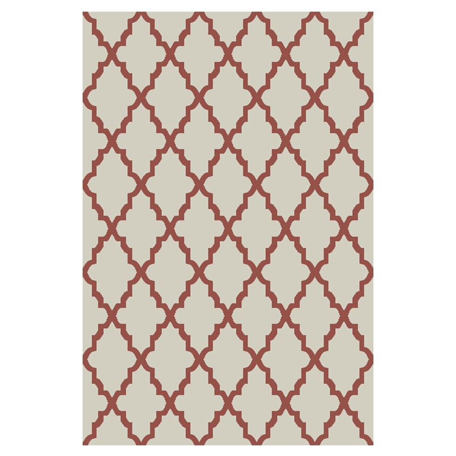 allen + roth Briarwick Coral Rectangular Indoor Woven Area Rug (Common: 5 x 8; Actual: 5-ft W x 8-ft L x 0.5-ft Dia)