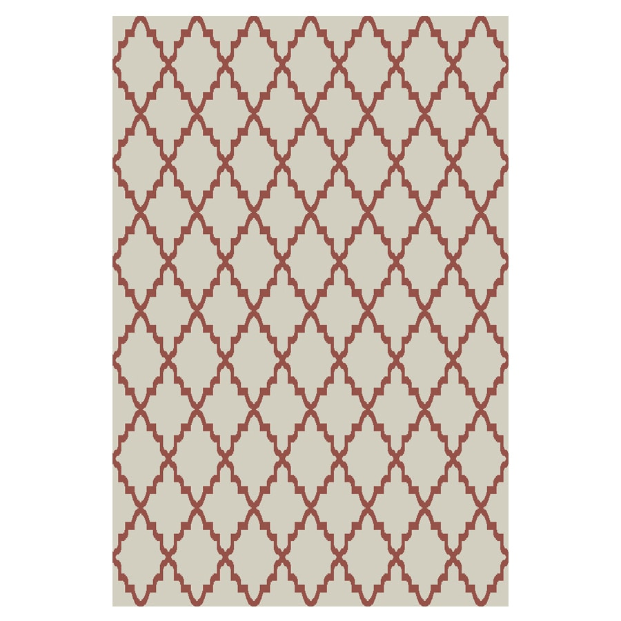 allen + roth Briarwick Coral Rectangular Indoor Woven Area Rug (Common: 10 x 13; Actual: 10-ft W x 13-ft L x 0.5-ft Dia)