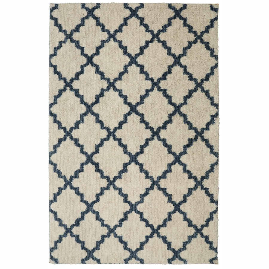 allen + roth Briarwick Dark Slate Rectangular Indoor Woven Area Rug (Common: 5 x 8; Actual: 60-in W x 96-in L x 0.5-ft dia)